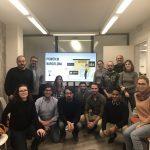 foto de grupo de los miembros power bi barcelona en algri coworking