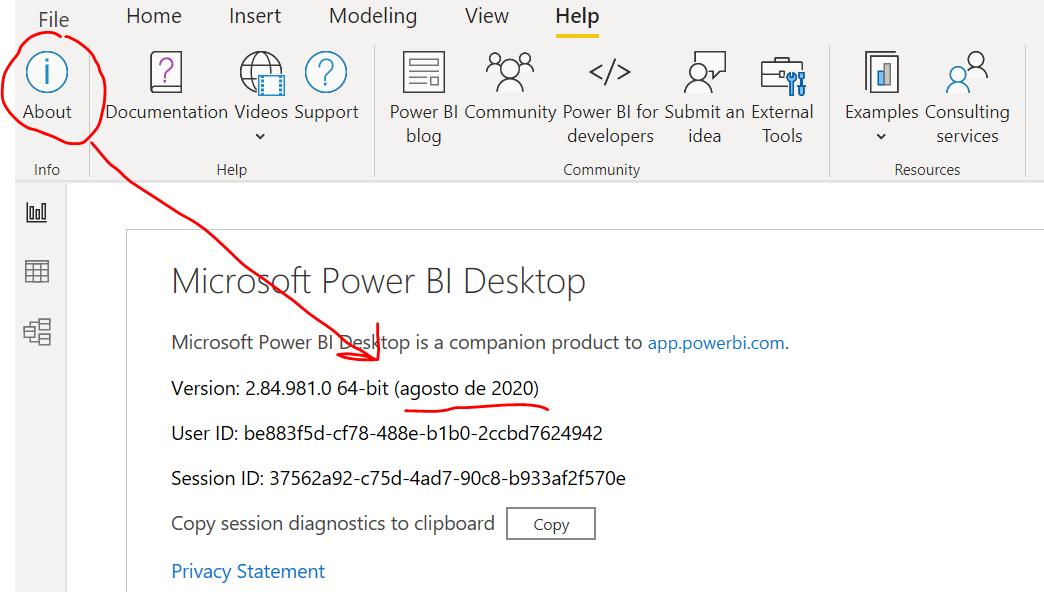 Como saber mi versión de Power BI Desktop