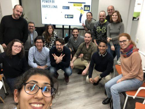 meetup participantes power bi barcelona microsoft iberica dax pug selfie