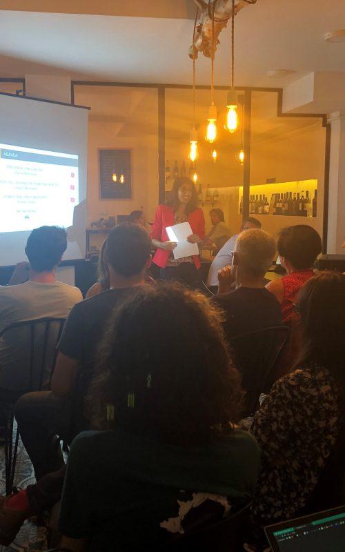 Dhania Mamodaly consultora formadora ponente evento power bi barcelona amo vino